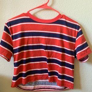 Never been worn striped crop top!